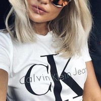 """Calvin Klein""Hot letters print T-shirt top"