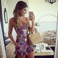 Sleeveless Sexy Print Woman Jumpsuit [4905533124]
