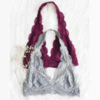 Fashion lace halter bra vest top bra underwear (6-color)