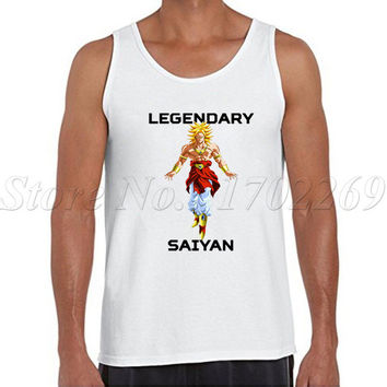 Legenary Saiyan cartoon printed Men tank tops sleeveless casual Vest hipster The Dragon Ball Z bodybuilding vest