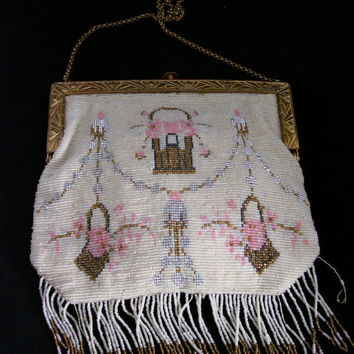 Antique Beaded Purse, mid 1800's
