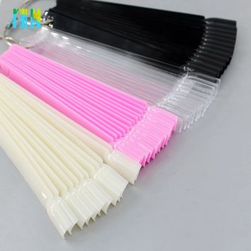 False Nail Tips fan Nature Clear Black 12/24/32/50 pcs/set Finger Full Card Nail Art Display Practice Polish all for Manicure