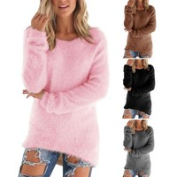 O-Neck Hedging Loose Women's Sweater