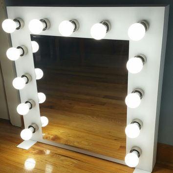 Custom built Vanity Mirror with lights