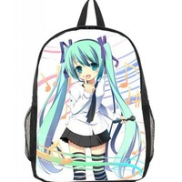 Bromeo Vocaloid Hatsune Miku Pattern Backpack School Bag #9