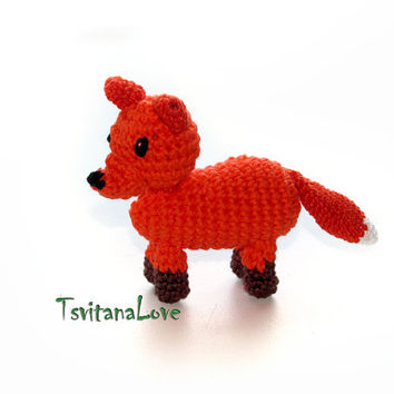 Childrens toy -  fox  - Safe for the game - pleasant to the touch