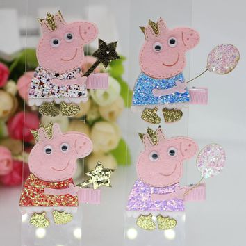 isnice Big Cartons Hair Clip Cartoon Kids Hairpins Hair ornament Colorful headband Children Pig Hair Accessories