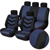 9Pcs/Lot Durable Car Seat Covers kits Universal Car Interior Decoration Seat Protector Headrest Cover Interior Auto SUV cover
