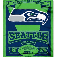 Seattle Seahawks 50x60 Fleece Blanket - Marque Design