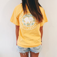 Citrus Chevron Tee