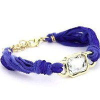 "Ettika ""Vintage Ribbon"" Blue Bracelet Gold Rectangular Gem: Jewelry: Amazon.com"