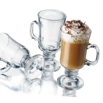 Libbey 8-1/2-Ounce Irish Coffee Mug, 4-Piece Set