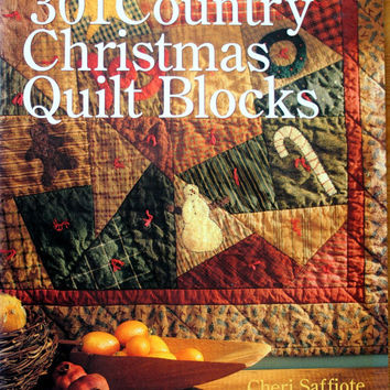Quiltsy Destash Party, 301 Country Christmas Quilt Blocks, Cheri Saffiote, Quilt pattern book
