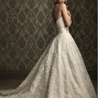 Buy Elegant Exquisite Lace & Satin A-line Sweetheart Wedding Dress