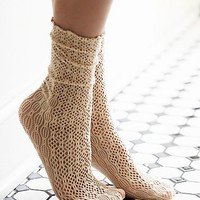 Free People Womens Netted Ankle Sock