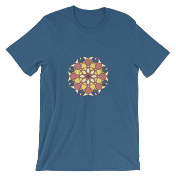 Short-Sleeve Unisex T-Shirt men women spiritual mandala sacred geometry abstract meditation yoga 5d alien abstract creative art for hipster