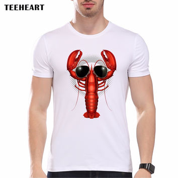 Cool LOBSTER Printed Personalized T-Shirts Men t shirt New White Short-Sleeve O Neck Art Animal top tees