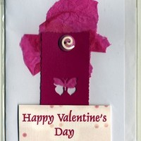 Happy Valentines Day Decoupage Card with a Butterfly