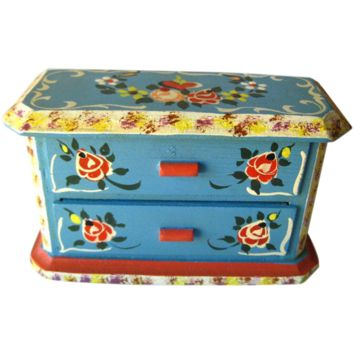 Miniature Hand Painted Dresser by Dora Kuhn West Germany / Dollhouse Furniture / Miniature Chest of Drawers