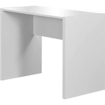 White Hollow-Core Computer Desk