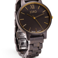 Frankie Ebony & Gold - Swiss Movement Wood Watch by JORD