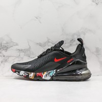 Nike Air Max 270 Black Graffiti Running Shoes - Best Deal Online