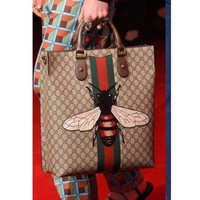 MDIGV9O GUCCI BEE Women Fashion Shopping Leather Tote Crossbody Satchel Shoulder Bag G-LLBPFSH