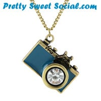 Vintage Anitque Camera Photography Necklace