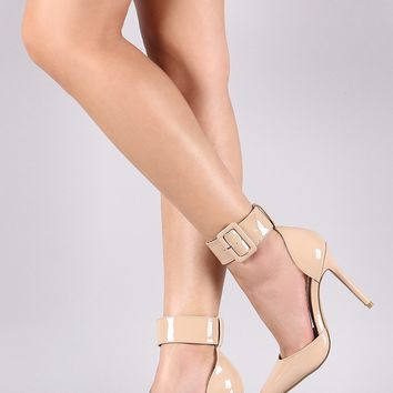 Liliana Patent Ankle Cuff Pointy Toe Pump