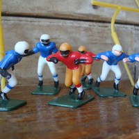Vintage Cake Toppers Football Theme Set of 12 players 1970s