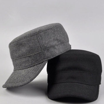 New 2013 winter cap winter hats for man women New arrival wool fashion Army hat cadet cap male casual cap bucket hat