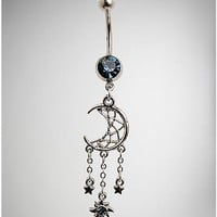 Moon Dreamcatcher Dangle Belly Ring - 14 Gauge - Spencer's