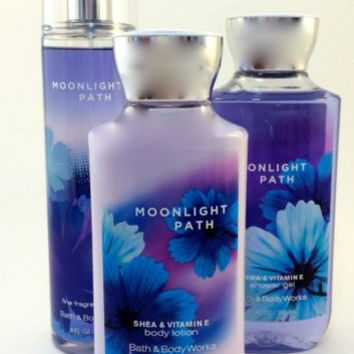New Bath & Body Works Gift Set Moonlight Path With Gift Bag And Ribbon!