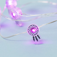 Dreamcatcher Purple String Lights