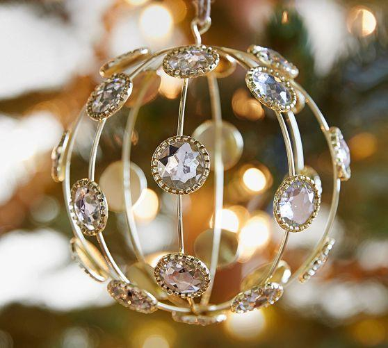 Caged Jewel Sphere Ornament From Pottery Barn Holiday