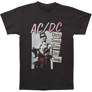 AC/DC Men's  Dirty Deeds Slim Fit T-shirt Smoke