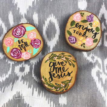 Painted Mini Wood Slices