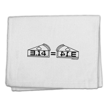 "Pi Day Design - 314 Equals Pie Mirrored Pies 11""x18"" Dish Fingertip Towel by TooLoud"