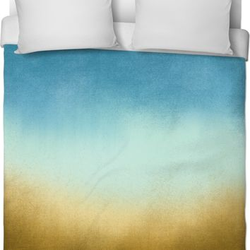 Brown Teal Ombre Duvet Cover
