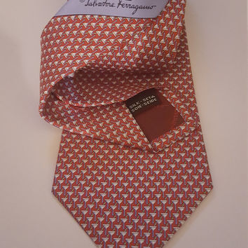 VMC000001 Mens Salvatore Ferragamo Martini Cocktail Silk Necktie Mens Tie Accessories  by God Oddities Decor on Etsy