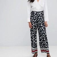 ASOS Wide Leg in Floral Print with Sports Detail at asos.com