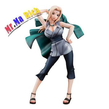 Naruto Sasauke ninja Action Figure  Tsunade Anime Model Cartoon Doll Pvc 21cm Japanese Figurine For Collection AT_81_8