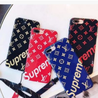 The New Supreme LV Print Iphone 8 8 Plus 7 7 Plus 6 6s Plus Cover Case