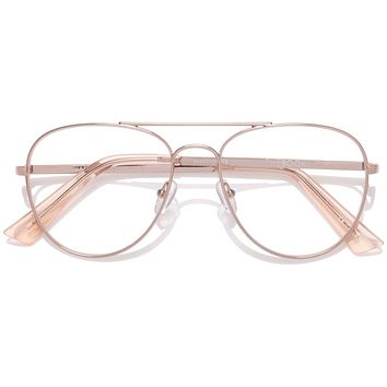The Book Club - Hard Crimes 55mm Rose Gold  / Screen Blue Light Clear +1.00 Lenses