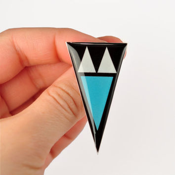 Sky Arrowhead Brooch/Pin Unisex- Christmas In July - CIJ