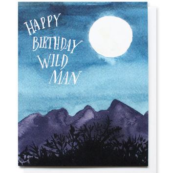 wild man birthday card
