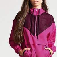 Mesh-Panel Hooded Anorak