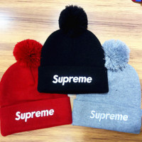 street fashion supreme Life Knit Pom Beanie
