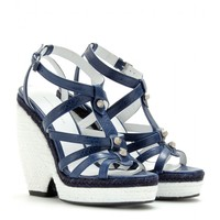 balenciaga - trainer espadrille wedge sandals