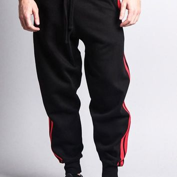Men's Two Striped Sweatpants